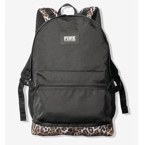 NEW VS PINK CAMPUS BACKPACK BOOKBAG LEOPARD